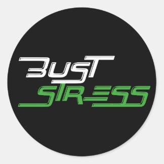 Sticker Rond Gymnase de séance d'entraînement d'effort de buste