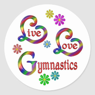 Sticker Rond Gymnastique vivante d'amour