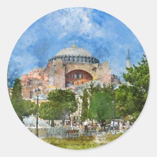 Sticker Rond Hagia Sophia dans Sultanahmet, Istanbul