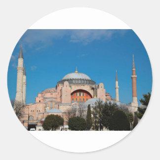 Sticker Rond Hagia Sophia Turquie