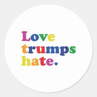 Sticker Rond Haine d'atouts d'amour de GLBT