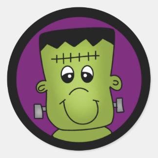Sticker Rond Halloween Frankie