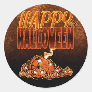Sticker Rond Halloween heureux