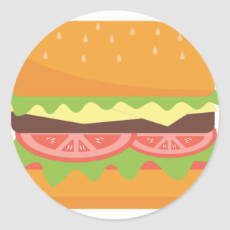 Sticker Rond Hamburger