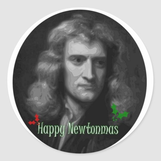 Sticker Rond Happy Newtonmas !