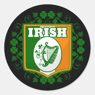 Sticker Rond Harpe du jour de St Patrick