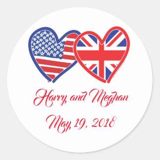 Sticker Rond Harry et Meghan