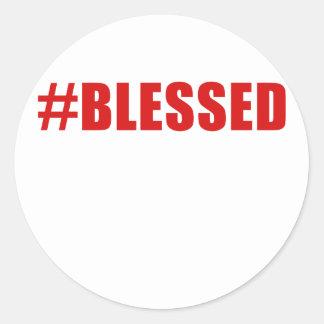 Sticker Rond Hashtag a béni