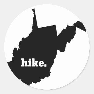 Sticker Rond Hausse la Virginie Occidentale