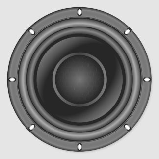 Sticker Rond Haut-parleur bruyant
