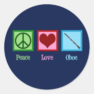 Sticker Rond Hautbois d'amour de paix