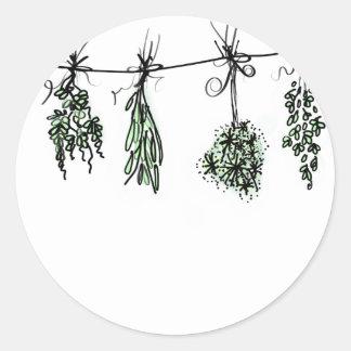 Sticker Rond Herbes
