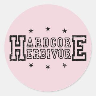 Sticker Rond Herbivore inconditionnel (noir)