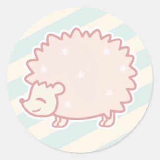 Sticker Rond Hérisson de sucrerie par Yokute