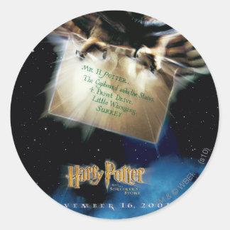 Sticker Rond Hibou avec l'affiche de film de lettre
