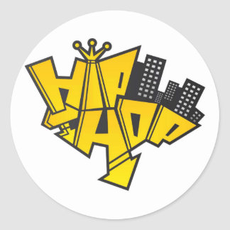 Sticker Rond Hip-hop logo