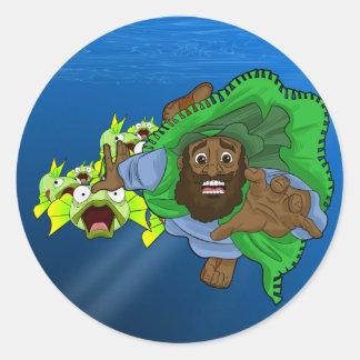 """Sticker Rond Hirondelle ronde classique de BPA """"par un poisson"""