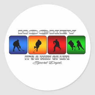 Sticker Rond Hockey frais c'est un mode de vie