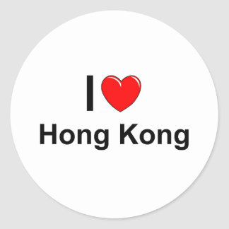 Sticker Rond Hong Kong