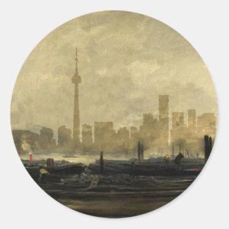 Sticker Rond Horizon 41 de Toronto