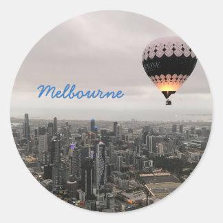 Sticker Rond Horizon de Melbourne