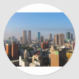 Sticker Rond Horizon de Taïwan Taichung