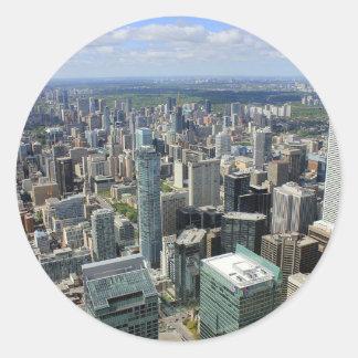 Sticker Rond Horizon de ville de Toronto
