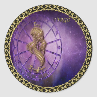 Sticker Rond horoscope de conception d'astrologie de zodiaque
