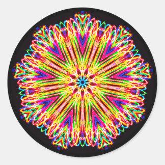 Sticker Rond Hors de la fractale d'esprit