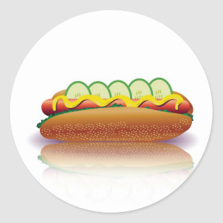 Sticker Rond hot-dog
