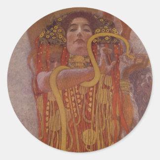 Sticker Rond Hygeia par Gustav Klimt