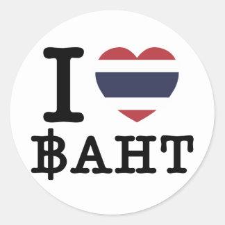 Sticker Rond I baht de coeur (amour)