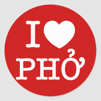 Sticker Rond I coeur (amour) Pho