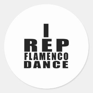STICKER ROND I CONCEPTIONS DE DANSE DE FLAMENCO DE REPRÉSENTANT