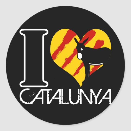 Sticker Rond I Love Catalunya