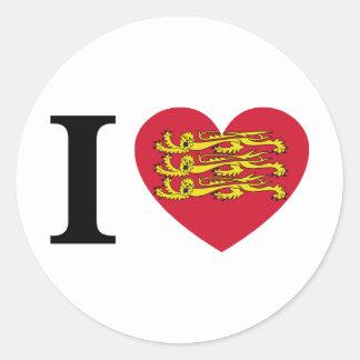 Sticker Rond I Love normandie