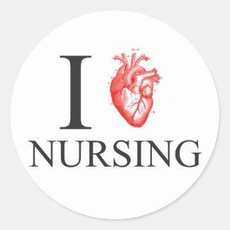 Sticker Rond I soins de coeur