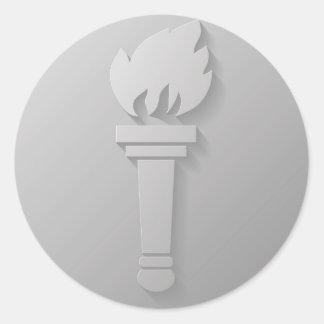 Sticker Rond icône de torche