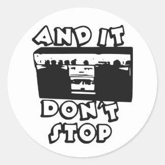 Sticker Rond Il n'arrêtent pas le côté B