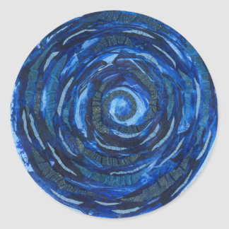 Sticker Rond illustration #2 de spirale d'indigo de Chakra de