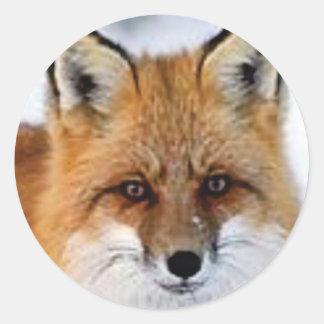 Sticker Rond image de fantaisie de renard