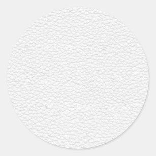 Sticker Rond Image du cuir blanc