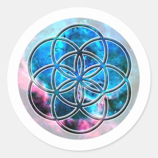 Sticker Rond Image du nombre 7 : la Graine de Vie