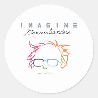 Sticker Rond Imaginez les ponceuses de Bernie