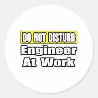 Sticker Rond Ingénieur au travail