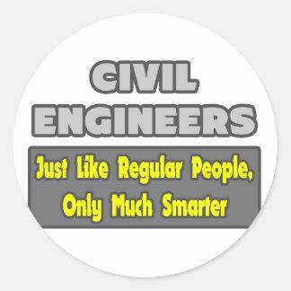Sticker Rond Ingénieurs civils… plus futés