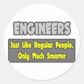 Sticker Rond Ingénieurs… plus futés