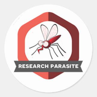 Sticker Rond Insigne d'autocollant de parasite de recherches