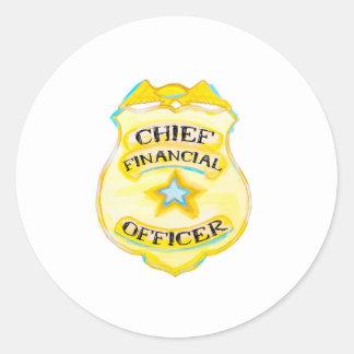 Sticker Rond Insigne de l'autocollant CFO de finances