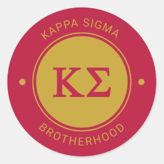 Sticker Rond Insigne du sigma | de Kappa